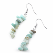 Amazonite Quartz Chips Dangle Earrings