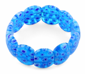 Blue Milleflori Glass Cushion Bracelets
