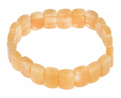 Cushion Pillow Yellow Jade Gem Stone Bracelet