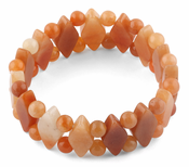 Princess Style Red Aventurine Gemstone Bracelet