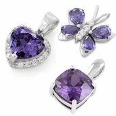 Purple CZ Pendants