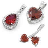 Red CZ Pendants