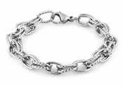 Stainelss Steel Thick Twisted Cable Chain Link Bracelet
