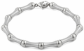 Stainless Steel Bead and Bar Bracelet