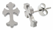 Stainless Steel Cross Stud Earrings