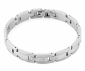 Stainless Steel Double Groove Bar Bracelet