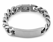 Stainless Steel ID Curb Link Bracelet