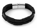 Stainless Steel Leather Rope Bracelet