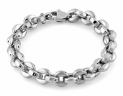 Stainless Steel Round Link Bracelet