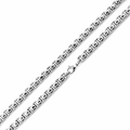 Stainless Steel Rounded Box Link Necklace