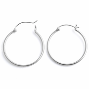 Sterling Silver 1.5MM x 30MM Loop Earrings