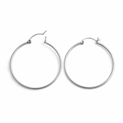 Sterling Silver 1.5MM x 40MM Loop Earrings