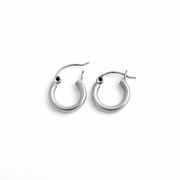 Sterling Silver 2.5MM x 14MM Loop Earrings