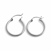 Sterling Silver 2.5MM x 25MM Loop Earrings
