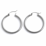 Sterling Silver 2.5MM x 30MM Loop Earrings