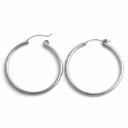 Sterling Silver 2.5MM x 40MM Loop Earrings
