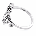 Sterling Silver 2 Leaves Ring