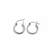 Sterling Silver 2MM x 14MM Loop Earrings