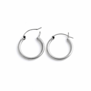 Sterling Silver 2MM x 16MM Loop Earrings