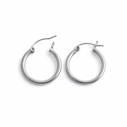 Sterling Silver 2MM x 20MM Loop Earrings