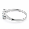 Sterling Silver 3 Clear Stones CZ Ring
