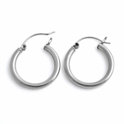 Sterling Silver 3MM x 25MM Loop Earrings