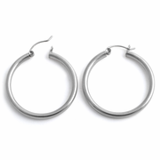 Sterling Silver 3MM x 35MM Loop Earrings