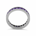 Sterling Silver Amethyst Eternity Band Ring