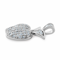 Sterling Silver Apple Clear CZ Pendant