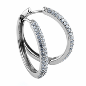 Sterling Silver Astral Clear CZ Earrings