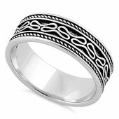 Sterling Silver Bali Design Band Ring