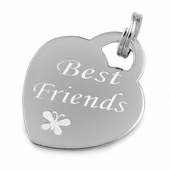 "Sterling Silver ""Best Friends"" Pendant"