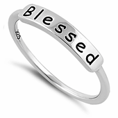 """Sterling Silver """"Blessed"""" Ring"""