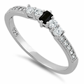 Sterling Silver Black CZ Ring