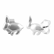 Sterling Silver Bunny Rabbit Earrings