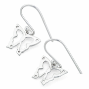 Sterling Silver Butterfly Hook Earrings