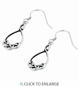 Sterling Silver Celtic Dangling Earrings