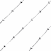 Sterling Silver Chain Forzatina Rosario Pallina 2mm (sold by the foot)