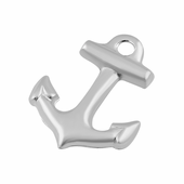 Sterling Silver Charm Anchor 11 x 8.5mm - PACK OF 10
