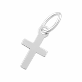 Sterling Silver Charm Cross 5 x 9.5mm - PACK OF 10