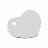Sterling Silver Charm Heart 10mm w/ Hole - PACK OF 2