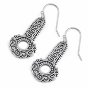 Sterling Silver Contemporary Folk Eye Earrings