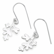 Sterling Silver Coral Hook Earrings