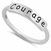 """Sterling Silver """"Courage"""" Ring"""