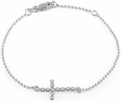 Sterling Silver Cross Bead Bracelet