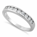 Sterling Silver CZ Band Ring