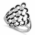Sterling Silver Diamond Celtic Ring