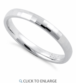 Sterling Silver Diamond Cut Finish Wedding Band Ring 25mm