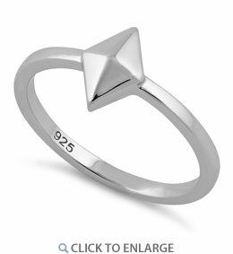 Sterling Silver Diamond Shape Ring