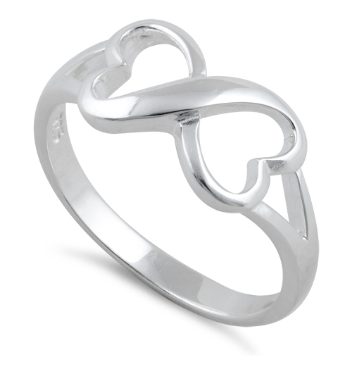 Perfect Sterling Silver Infinity Heart Ring QT14
